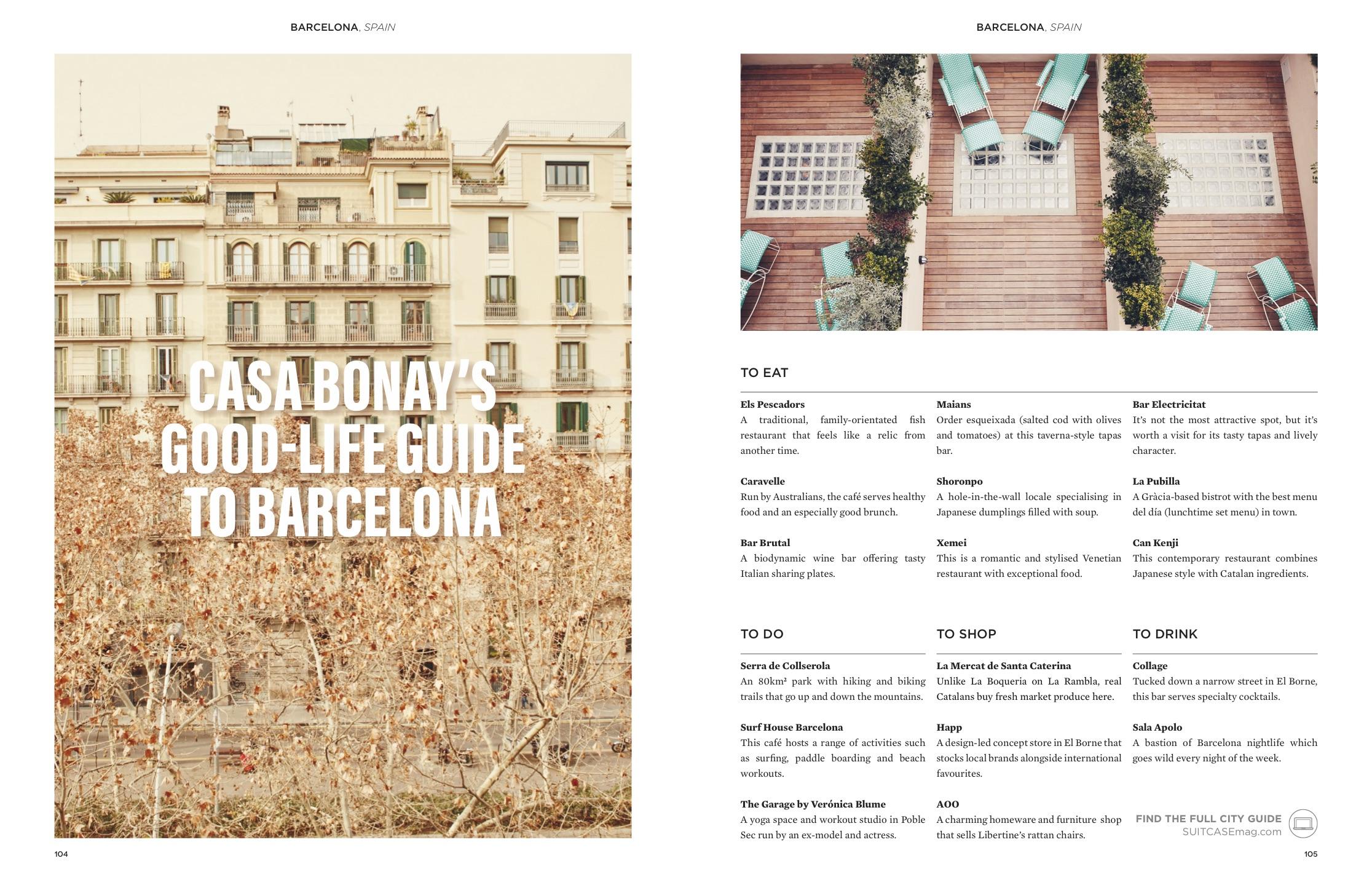 casa bonay guide barcelona